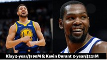 [BREAKING NEW] Warriors may offer Klay 5-year/-190M - Kevin Durant 5-year/-221M Max contract