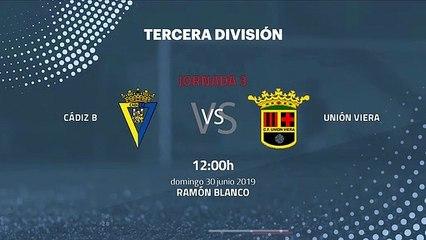 Previa partido entre Cádiz B y Unión Viera Jornada 3 Tercera División - Play Offs Ascenso