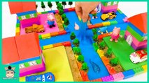 Learn Colors with Disney Car Toy and Build a village river with Sand Block - MariAndToys