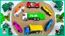 Learn Colors - Numbers with Disney Cars - Thomas Trains Toy Sand Puzzle for Kids - MariAndToys