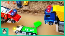Excavator, Dump Truck, Cement Truck - Tractor Construction Toy Vehicles for Kids - MariAndToys