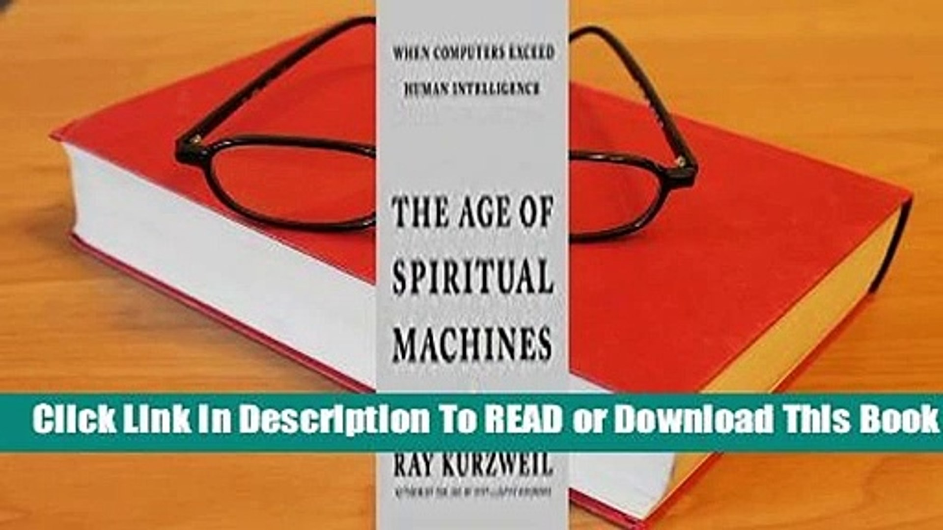 Online The Age of Spiritual Machines: When Computers Exceed Human Intelligence   For Online