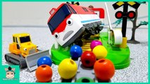 Train Toys for Kids. Choo Titipo Titipo- Train station crossing play with Tayo Cartoon - MariAndToys