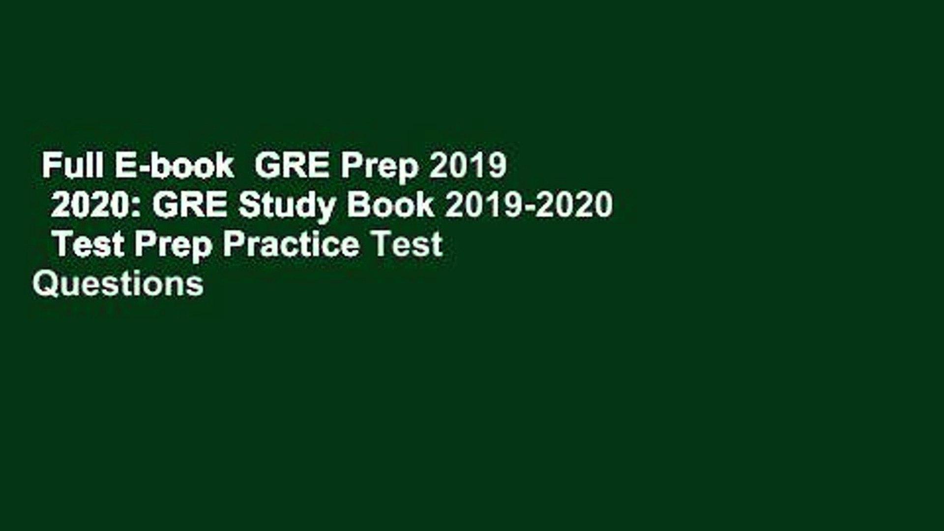 Best Gre Prep Book 2020.Full E Book Gre Prep 2019 2020 Gre Study Book 2019 2020 Test Prep Practice Test Questions