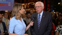 """Bernie Sanders: """"Delighted"""" other candidates taking up his ideas"""