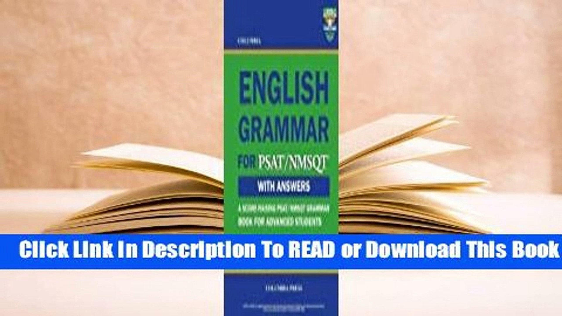 Full E-book Columbia English Grammar for PSAT/NMSQT  For Kindle