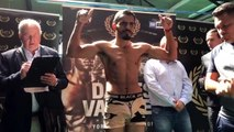 OHARA DAVIES NEEDS TO STRIP - BUT MAKES WEIGHT AGAINST MIGUEL VAZQUEZ *OFFICIAL WEIGH-IN*