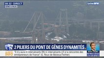 Gênes: les images du dynamitage du pont Morandi