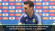 """Scaloni : """"Juan Foyth est l'avenir de la sélection"""""""