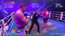David vs Goliath IRL : le Marocain Ismael Lazaar met un faceplant KO au géant Thomson