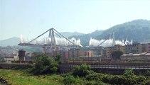 Les restes du pont Morandi, qui s'était effondré à Gênes en 2018, détruits à l'explosif