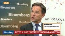 Dutch PM Rutte on G-20, EU Commission Job, Italy, Brexit