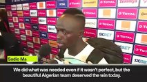 (Subtitled) 'The beautiful Algerian team deserved to win' Mane