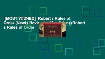 [MOST WISHED]  Robert s Rules of Order (Newly Revised, 11th edition) (Robert s Rules of Order