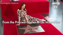 Anne Hathaway gets star on Hollywood Walk of Fame