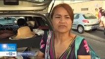 Spéciale Canicule: Une famille marseillaise passe la soirée à la plage pour rafraîchir les enfants - VIDEO