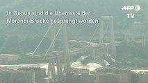 Morandi-Brücke in Genua gesprengt