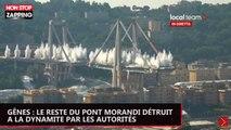 Gênes : le reste du pont Morandi détruit à la dynamite (vidéo)