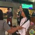 Abidjan est trop doux ! Cette femme fond en pleure dans l'aéroport parce qu'elle ne veut pas partir. Regardez !