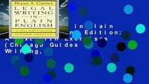 Legal Writing in Plain English, Second Edition: A Text with Exercises (Chicago Guides to Writing,