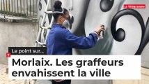 Morlaix, les graffeurs envahissent la ville