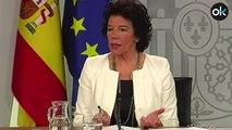 """Celaá dice que el Ejército y la Generalitat luchan contra un incendio """"en territorio catalán español"""""""