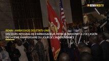 Benin : discours de l'ambassadrice des USA à l' occasion du 243ème anniversaire