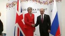 Rencontre glaciale entre May et Poutine lors du G20