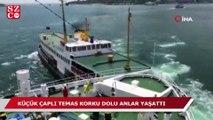 İstanbul Boğazı'nda korkutan kaza yolcu kamerasında