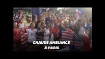 France - États-Unis: au Parc des Princes, ambiance caniculaire