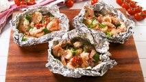 You Should Be Grilling Tuscan Butter Shrimp Foil Packs