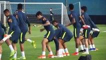 Brazil train following qualification for Copa America semi-finals