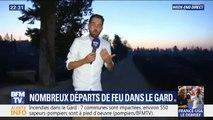 Feux dans le Gard: le service de secours du Gard déclare que quatre pompiers ont été légèrement blessés