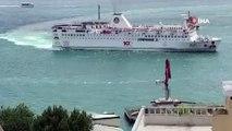 Piri Reis Üniversitesi'ne ait gemi ile Şehir Hatları vapuru küçük çaplı temas yaşadı