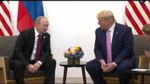 """Lors du sommet du G20 à Osaka, Vladimir Poutine et Donald Trump ont eu un petit échange sur les """"fake news"""""""