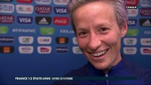 La réaction de Megan Rapinoe après France / USA
