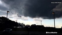 Timelapse shows storm develop overhead and dump rain