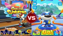 Subway Surfers Miami 2019 vs Talking Tom Gold Run Jake Dark Outfit Talking Tom Android iOS Gameplay