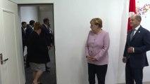 Cumhurbaşkanı Erdoğan ve Almanya Başbakanı Merkel'in görüşmesi başladı - OSAKA