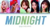 EXID (이엑스아이디) - Midnight (나의밤) (Han-Rom-Eng) Color Coded Lyrics-한국어 가사