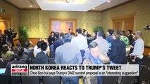 "N. Korea's Choe Son-hui says Trump's DMZ summit proposal is ""very interesting"""