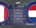 FOOTBALL: FIFA Women's World Cup: Italy v Netherlands H2H
