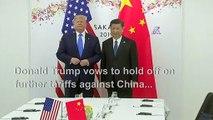 'Back on track': Trump, Xi seal trade war truce