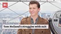 Tom Holland And His Spidey Suit