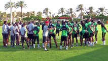 Nigeria train for meeting with Madagascar in Group B at Africa Cup of Nations
