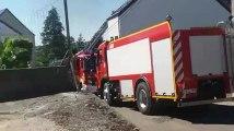 Incendie d'un bloc d'appartements à Thy-le-Château 1