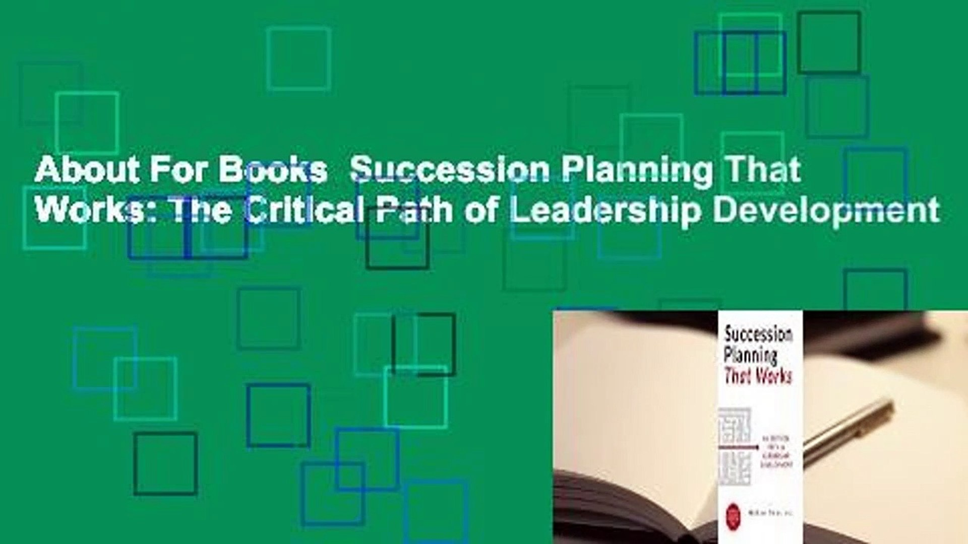 The Critical Path of Leadership Development Succession Planning That Works
