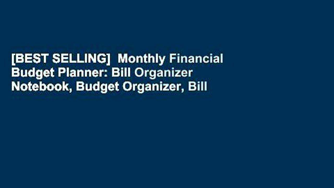[BEST SELLING]  Monthly Financial Budget Planner: Bill Organizer Notebook, Budget Organizer, Bill
