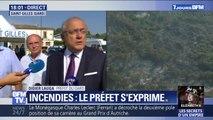 """Incendies dans le Gard: les feux sont sous contrôle mais """"on est passé tout près d'une véritable catastrophe"""", selon le préfet"""