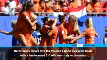 FOOTBALL: FIFA Women's World Cup: Fast Match Report - Italy 0-2 Netherlands